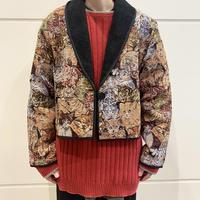 90s cat patterned gobelins jacket