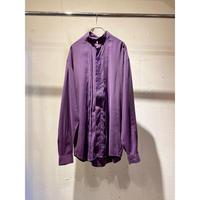 90s band collar rayon blend shirt