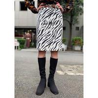 fake fur zebra pattern mini skirt