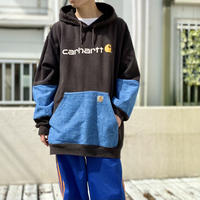 "2XL ""carhartt"" denim × sweat hoodie"