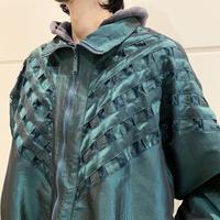 90s shiny design blouson (GRN)