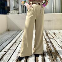 70s rayon blend flare slacks pants