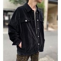 oversized velour trucker jacket