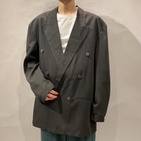 old rayon double breasted  tailored jacket