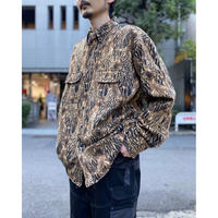 90s〜camouflage patterned L/S shirt