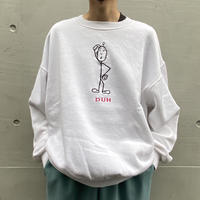 90s embroidery design sweat shirt