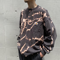 """carhartt"" L/S bleach design cut & sew"
