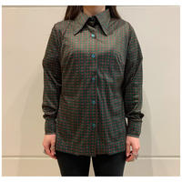 70s poly all patterned shirt