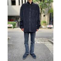 oversized L/S corduroy shirt(BLK)