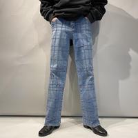 switching design denim pants