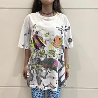 90s tropical fish printed T-shirt