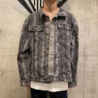 old reversible python patterned jacket