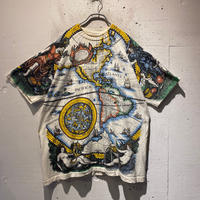 90s world map design T-shirt