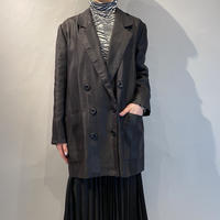 stripe double breasted tailored jacket