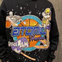 "DEADSTOCK!!90s ""SPACE JAM"" printed sweat shirt"
