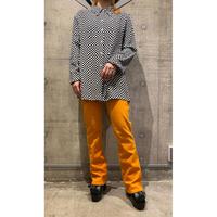 L/S checker patterned rayon shirt