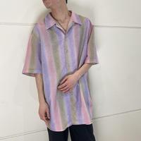 90s~ gradation open collar shirt