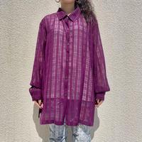 90s~ see-through checked shirt