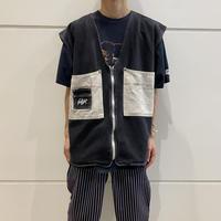 90s~ design denim vest