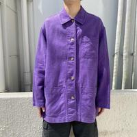 90s~ linen blend design jacket