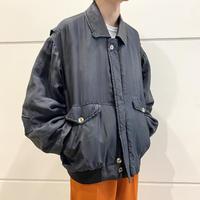 90s~ design silk blouson