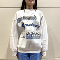 """80s~ """"Brodway"""" printed sweat shirt"""