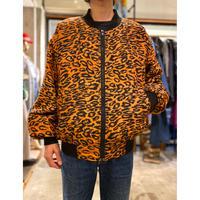 80s〜leopard pattened silk jacket