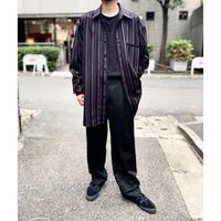 90s~design striped L/S shirt