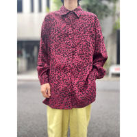 oversized L/S leopard patterned shirt (RED)