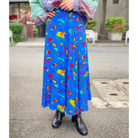 80s〜 all pattern flare skirt
