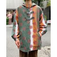 90s oversized ethnic pattern jacket