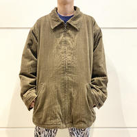 90s~ oversized zip up corduroy jacket
