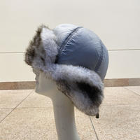 fake fur flight cap