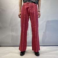 80s striped flare pants