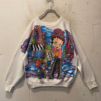 "90s ""Betty Boop"" print sweat shirt"
