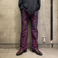 90s coating flare denim pants