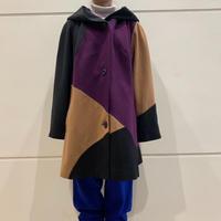 switchig design oversized wool coat