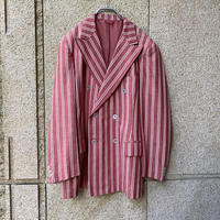 old stripe double breasted tailored jacket