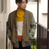 Military design blouson