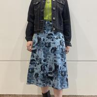 "old ""浮世絵"" patterned skirt"