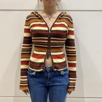 old mulch striped knit parker