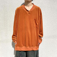 old oversized velours cut & sew