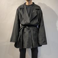 80s shiny double breasted jacket