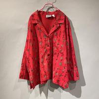 漢字 design open collar shirt