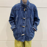 80s puffer denim design jacket