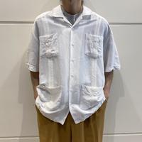 90s S/S linen blend shirt