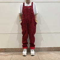 old leopard patterned corduroy overall