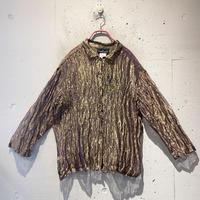 90s see-through design shiny shirt