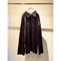 90s〜half zip velour shirt