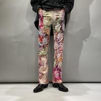 old shiny flower pants